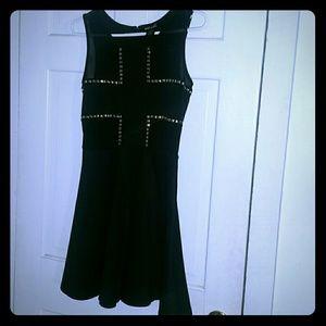 Dresses & Skirts - Wet Seal Black Skater Dress with Studs